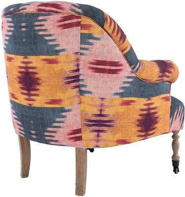 St Germaine Tufted Patola Linen Armchair image 4