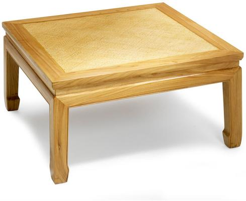 Square Daybed Table in Light Elm