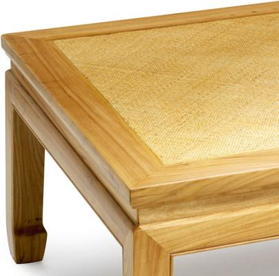 Square Daybed Table in Light Elm image 2