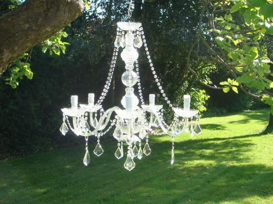 Clear Crystal Chandelier Light 5 Arms