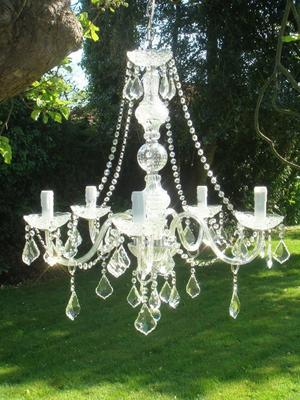 Clear Crystal Chandelier Light 5 Arms image 3