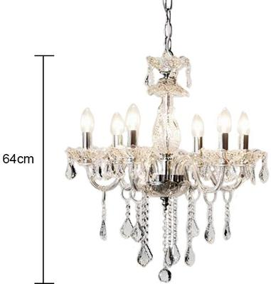 Ornate Clear Glass Chandelier French Design with Droplets image 2
