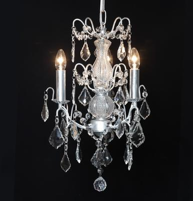 Small Silver French Chandelier 3 Tier image 2