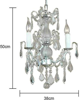 Small Silver French Chandelier 3 Tier image 3
