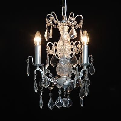 Small Silver French Chandelier 3 Tier image 4