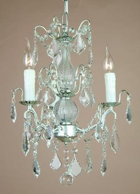 Small Silver French Chandelier 3 Tier image 5
