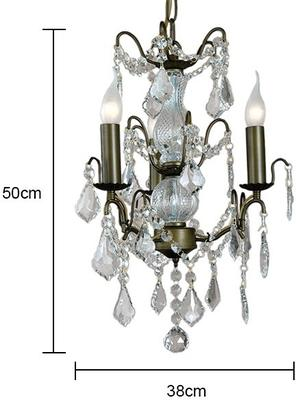 Small Silver French Chandelier 3 Tier image 6