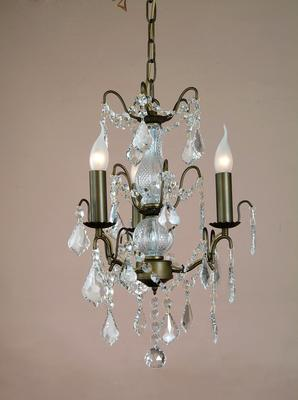 Small Silver French Chandelier 3 Tier image 7