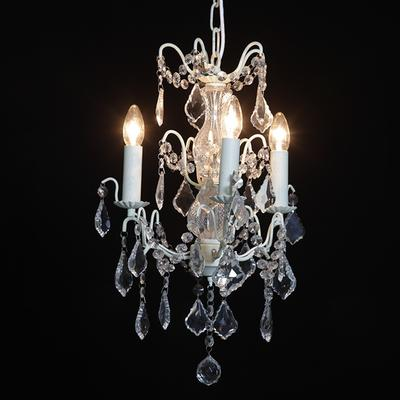 Small Silver French Chandelier 3 Tier image 8