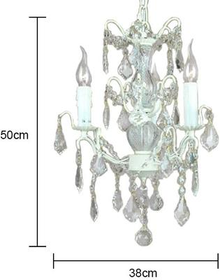 Small Silver French Chandelier 3 Tier image 9