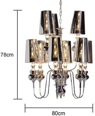 Extra Large Chrome Chandelier image 2