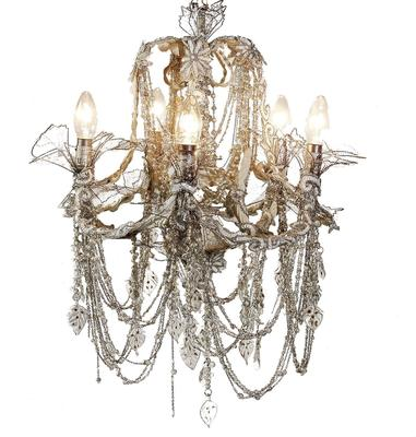 Five Arm Beaded Chandelier