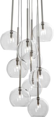 Sofie Refer Ice Chandelier 9 Ball - Clear
