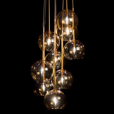 Sofie Refer Ice Chandelier 9 Ball - Gold