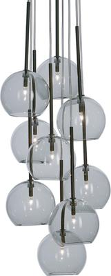 Sofie Refer Ice Chandelier 9 Ball - Black