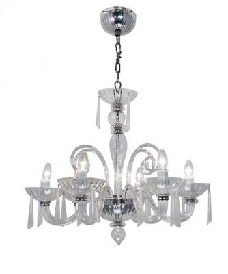 Six Arm Glass Chandelier image 2
