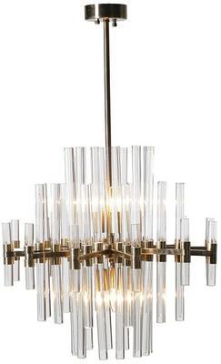 Glass Rods Metal Chandelier