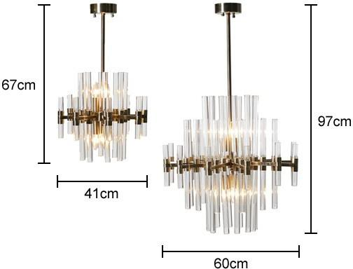 Glass Rods Metal Chandelier image 2