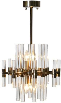Glass Rods Metal Chandelier image 3