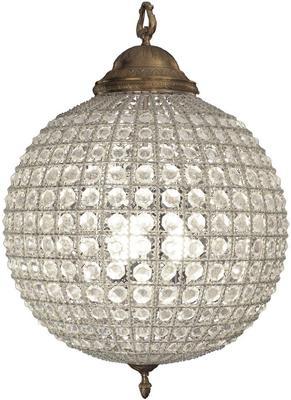 Round Antique Brass Chandelier Crystal Effect - Medium