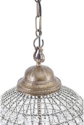 Round Antique Brass Chandelier Crystal Effect - Medium image 2