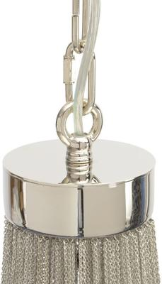 Langan Chandelier Large White Shade Silver Chains image 2