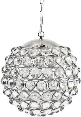 Oakley Sphere Nickel Crystal Chandelier 6 Bulb