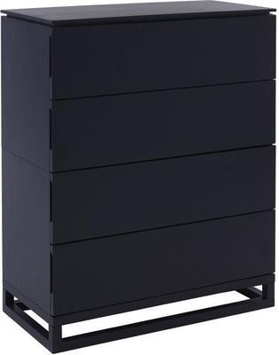 Cordoba Modern Large 4 Drawer Chest of Drawers - Black Wenge