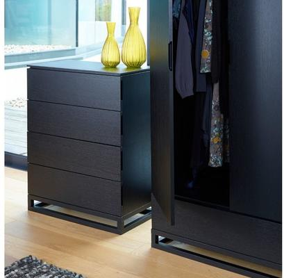 Cordoba Modern Large 4 Drawer Chest of Drawers - Black Wenge image 2