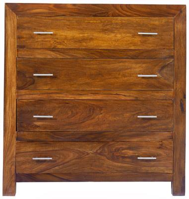 Cube Sheesham 5 Drawer Chest