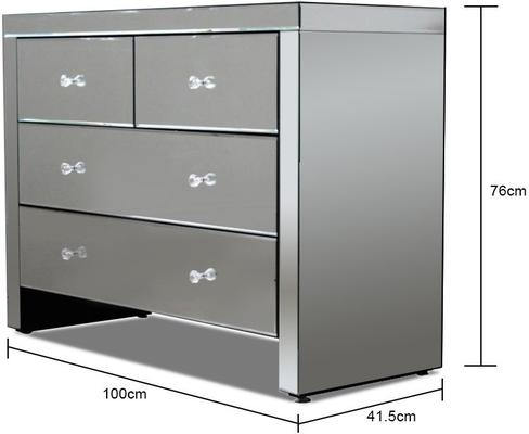 Mirrored Chest Of 4 Drawers image 2