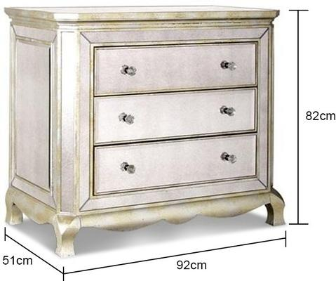 Three Drawer Venetian Chest Antique Glass image 5
