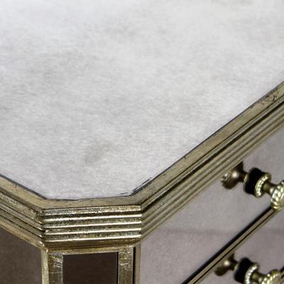 Slim Venetian Tallboy Chest Of Drawers Mirrored Finish image 3