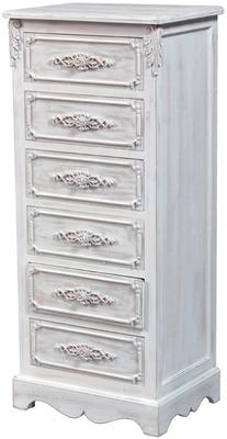 Distressed French Tall Boy Six Drawers