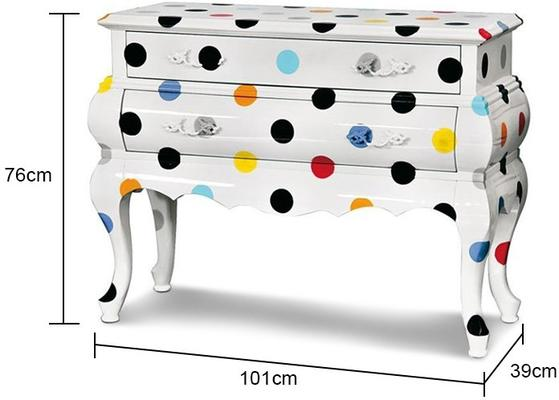 Seletti Two Drawer Chest Polka Dots image 2