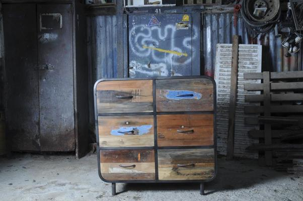 Brooklyn Finest Industrial 6 Drawer Chest image 6
