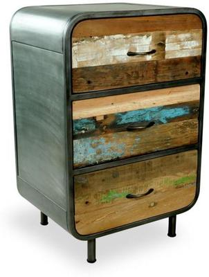 Brooklyn Finest Industrial 3 Drawer Tall Chest