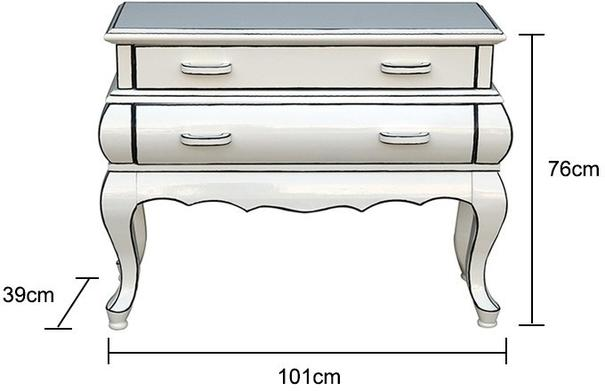 Cartoon Two Drawer Chest French Quirky Design image 2