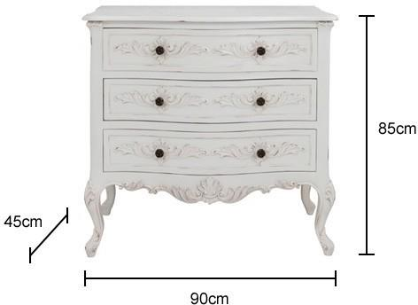 Classic French Four Drawer Chest in Antique White image 2