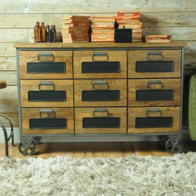 Industrial Vintage Low Apothecary Chest image 3