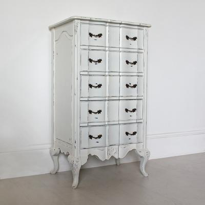 Ripple French-Style Five Drawer Tallboy Chest image 2