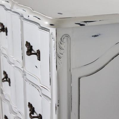 Ripple French-Style Five Drawer Tallboy Chest image 3