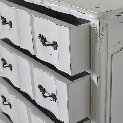 Ripple French-Style Five Drawer Tallboy Chest image 4