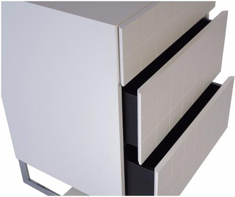 Barcelona Designer Chest of 3 Drawers - White image 2