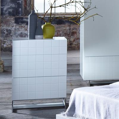 Barcelona Designer Chest of 3 Drawers - White image 3
