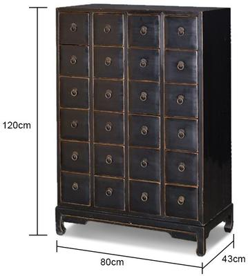 Large Black Chinese Chest of Drawers image 2
