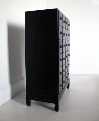 Large Black Chinese Chest of Drawers image 4