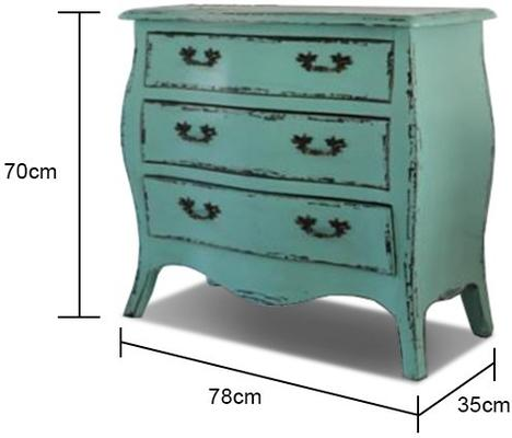 Vintage Style Chest in Turquoise image 2