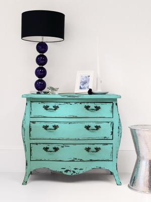 Vintage Style Chest in Turquoise image 4