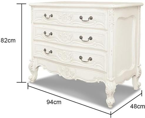 Three Drawer French Chest image 2